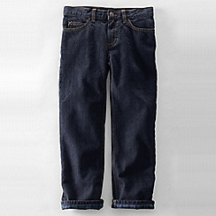 Lands' End - Blue boys' iron knee classic fit denim jeans
