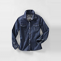 Lands' End - Blue girls' denim shirt