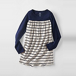 Lands' End - Blue little girls' gathered yoke legging top