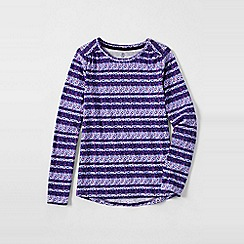 Lands' End - Purple little girls' patterned gathered shoulder tee