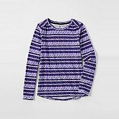 Lands' End - Purple little girls' patterned gathered shoulder tee