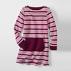 Lands' End - Pink girls' long sleeve legging sweatshirt top