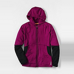 Lands' End - Pink little girls' activewear hoodie