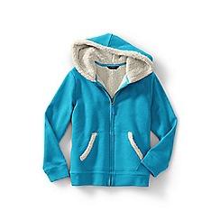 Lands' End - Girls' blue long sleeve sherpa hoodie