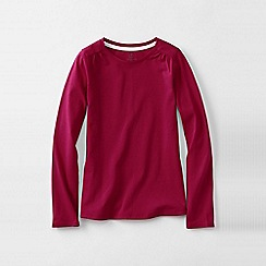 Lands' End - Pink gathered shoulder tee