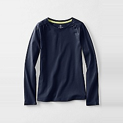 Lands' End - Blue gathered shoulder tee