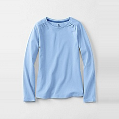 Lands' End - Blue girls' gathered shoulder tee