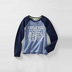 Lands' End - Blue girls' space dye graphic sweatshirt