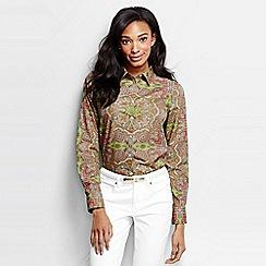 Lands' End - Multi long sleeve paisley non iron shirt