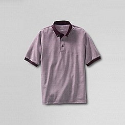 Lands' End - Red men's colourblock supima® polo
