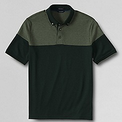 Lands' End - Green men's pieced supima® polo