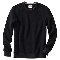 Lands' End - Black men's serious Sweatscrew neck Sweatsirt