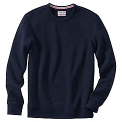 Lands' End - Blue men's serious Sweatscrew neck Sweatsirt