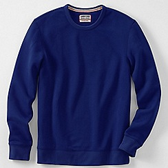 Lands' End - Blue men's serious sweats crew neck sweatshirt