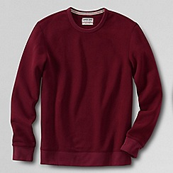 Lands' End - Red men's serious Sweatscrew neck Sweatsirt