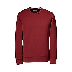 Lands' End - Red serious sweats crew neck sweatshirt