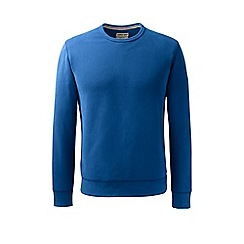 Lands' End - Blue serious sweats crew neck sweatshirt