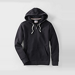 Lands' End - Black serious sweats hooded zip jacket