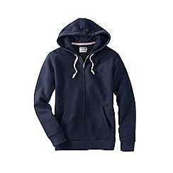 Lands' End - Blue men's serious Sweatshooded zip jacket