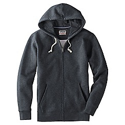 Lands' End - Grey men's serious Sweatshooded zip jacket