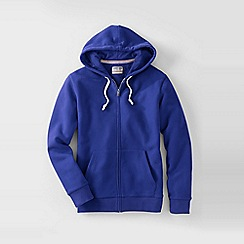 Lands' End - Blue men's serious sweats hooded zip jacket