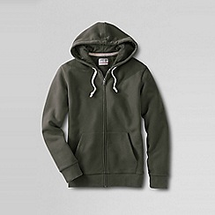 Lands' End - Green men's serious Sweatshooded zip jacket