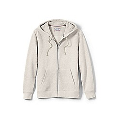 Lands' End - Cream serious sweats hooded zip jacket