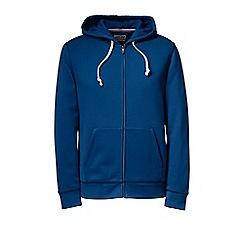 Lands' End - Blue serious sweats hooded zip jacket