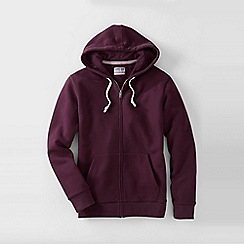 Lands' End - Red men's serious sweats hooded zip jacket