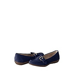Lands' End - Blue women's casual suede loafers