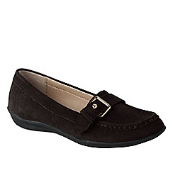 Lands' End - Brown casual suede loafers