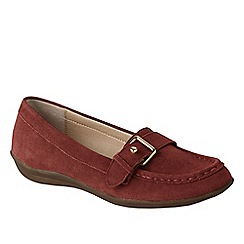 Lands' End - Red women's casual suede loafers
