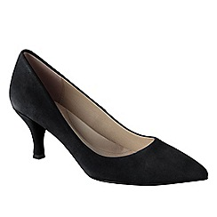 Lands' End - Black women's point toe court shoes