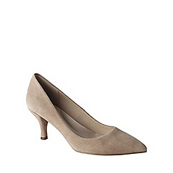 Lands' End - Cream women's point toe court shoes