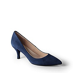 Lands' End - Dark blue  point toe court shoes