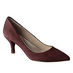 Lands' End - Red women's point toe court shoes