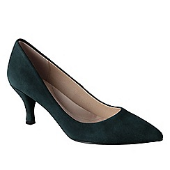 Lands' End - Green women's point toe court shoes