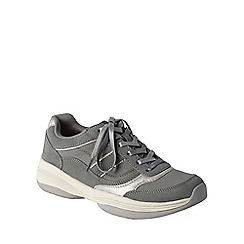 Lands' End - Grey women's sporty casual comfort shoes