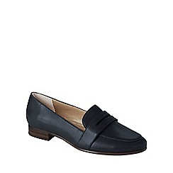 Lands' End - Blue women's leather penny loafers