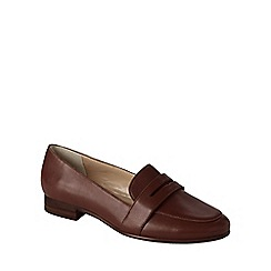 Lands' End - Brown women's leather penny loafers