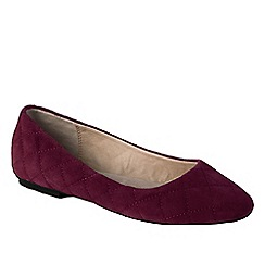 Lands' End - Purple women's quilted suede ballet shoes