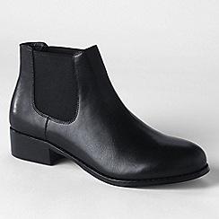 Lands' End - Black women's blakeley chelsea boots