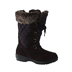 Lands' End - Brown women's renata laced winter boots