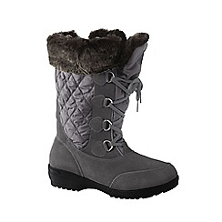 Lands' End - Grey women's renata laced winter boots