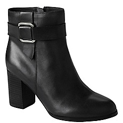 Lands' End - Black women's heeled ankle boots