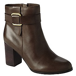 Lands' End - Brown women's heeled ankle boots