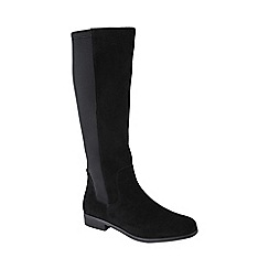 Lands' End - Black suede/stretch boots