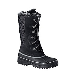 Lands' End - Black women's hillary tall snow boots