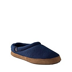 Lands' End - Blue women's fleece clog slippers