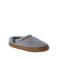 Lands' End - Grey women's fleece clog slippers
